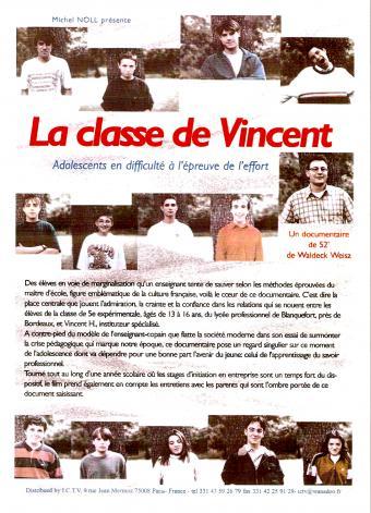 La classe de Vincent - affiche du film